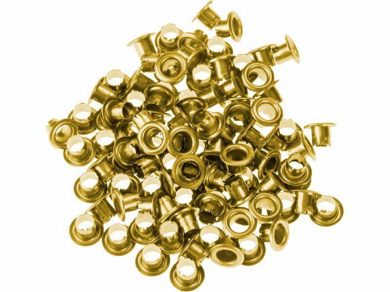 Očka-druky, sada100ks, barva zlatá mosaz EXTOL-CRAFT