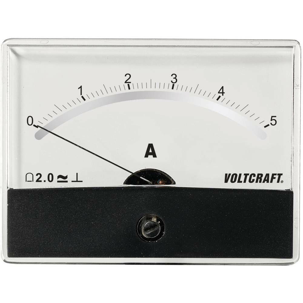 Analogové panelové měřidlo VOLTCRAFT AM-86X65/5A/DC 5 A CONRAD