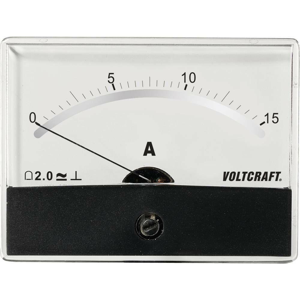 Analogové panelové měřidlo VOLTCRAFT AM-86X65/15A/DC 15 A CONRAD