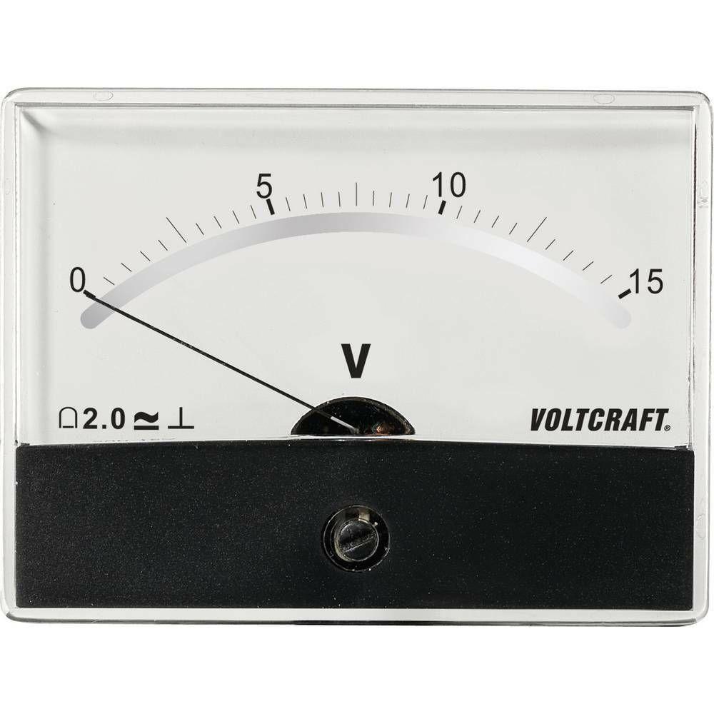 Analogové panelové měřidlo VOLTCRAFT AM-86X65/15V/DC 15 V CONRAD