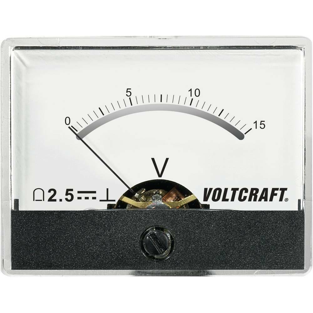 Analogové panelové měřidlo VOLTCRAFT AM-60X46/15V/DC 15 V CONRAD