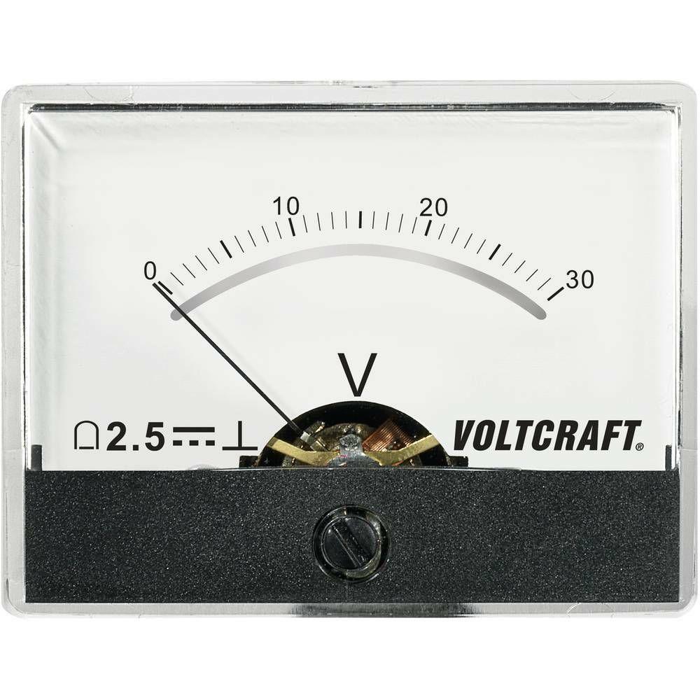 Analogové panelové měřidlo VOLTCRAFT AM-60X46/30V/DC 30 V CONRAD
