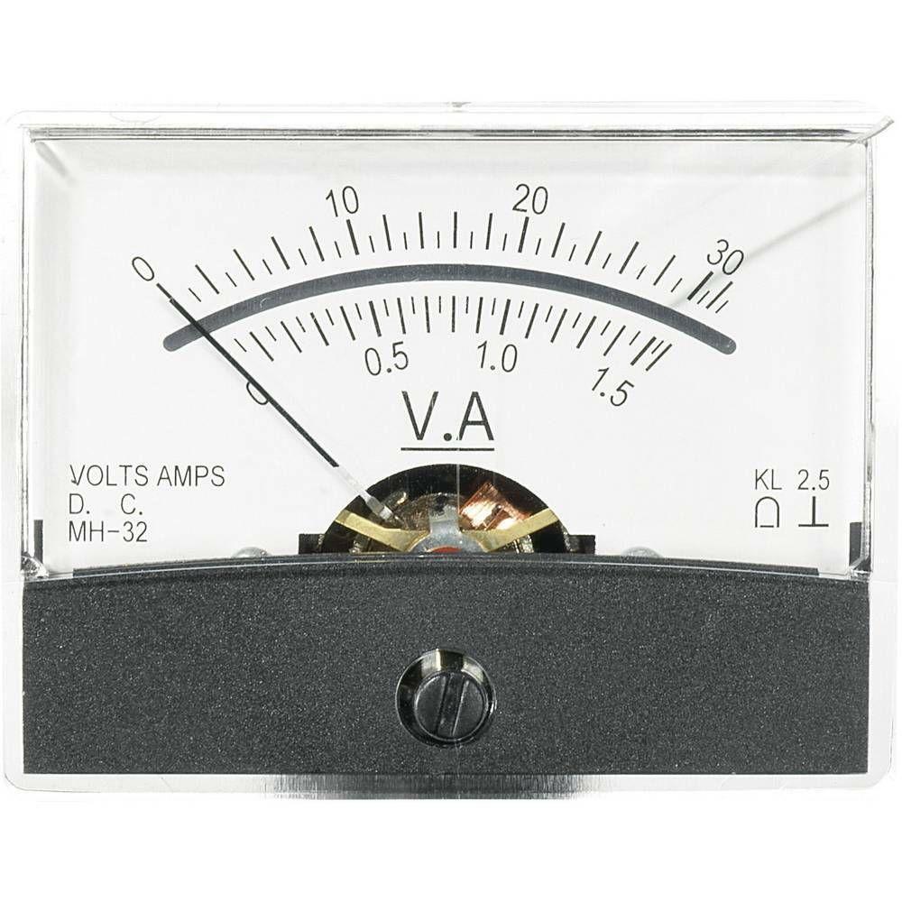 Analogové panelové měřidlo VOLTCRAFT AM-60X46/30V/1,5A/DC 30 V/1.5 A CONRAD