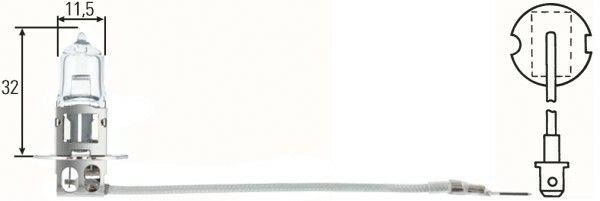 Žárovka HELLA H3 12V 55W PK22s, 8GH 002 090-131