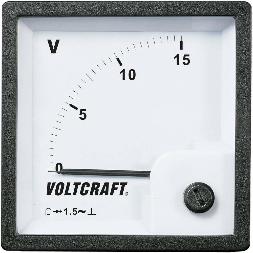 Analogové panelové měřidlo VOLTCRAFT AM-72x72/15V 15 V CONRAD