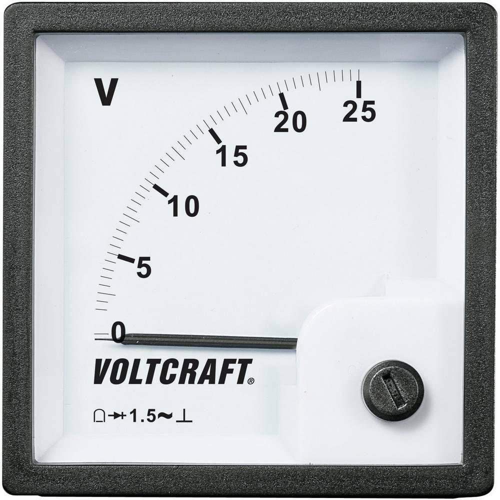 Analogové panelové měřidlo VOLTCRAFT AM-72x72/25V 25 V CONRAD