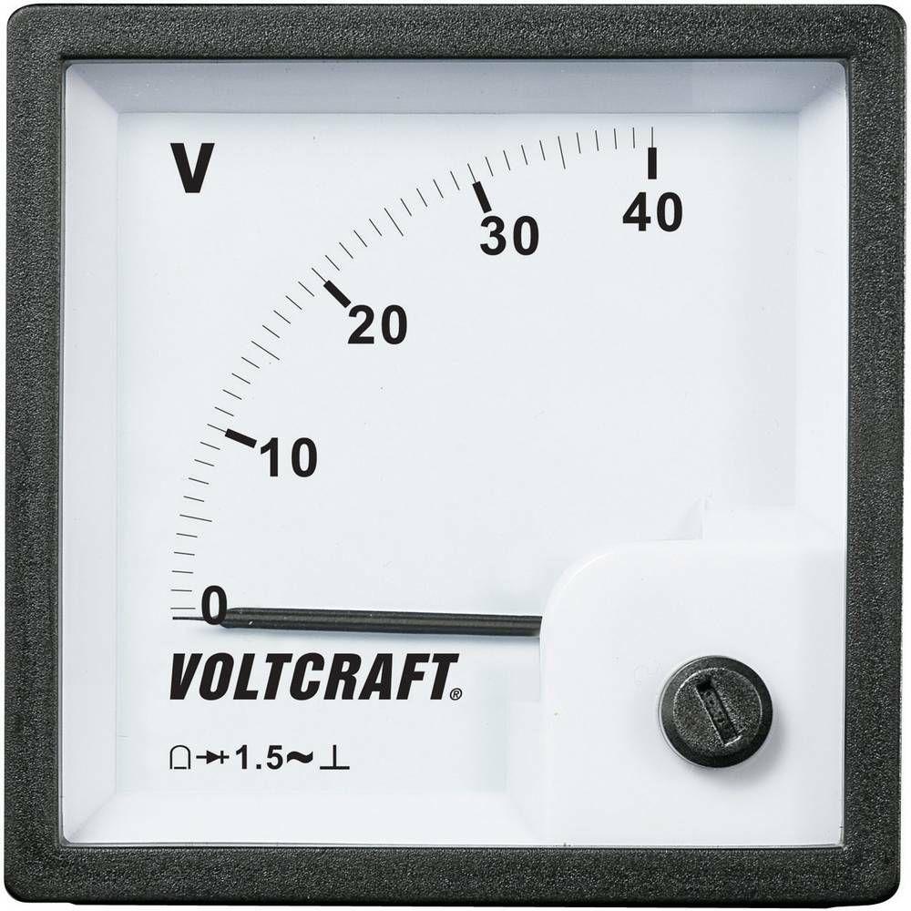 Analogové panelové měřidlo VOLTCRAFT AM-72x72/40V 40 V CONRAD
