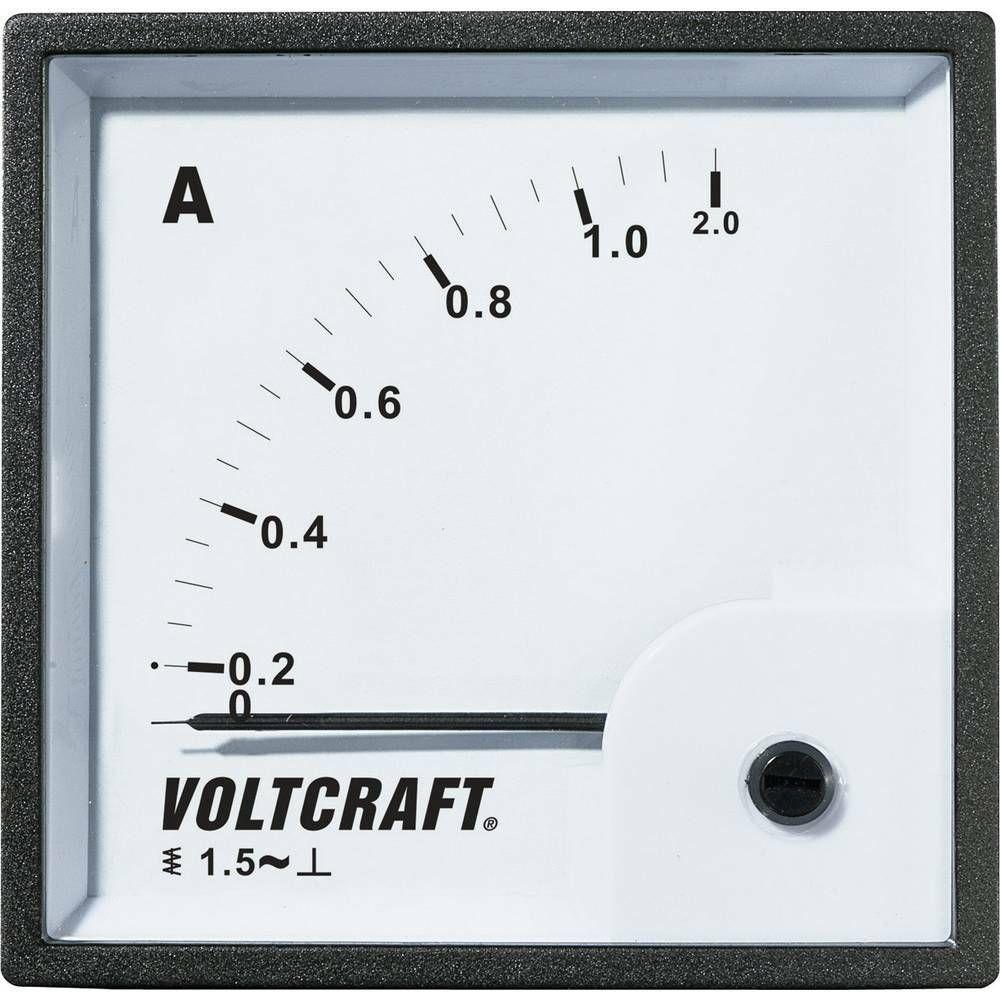 Analogové panelové měřidlo VOLTCRAFT AM-72X72/1A 1 A CONRAD