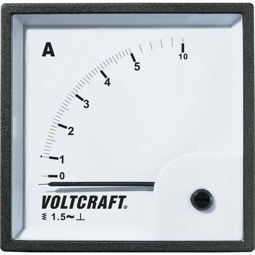 Analogové panelové měřidlo VOLTCRAFT AM-72X72/10A 10 A CONRAD