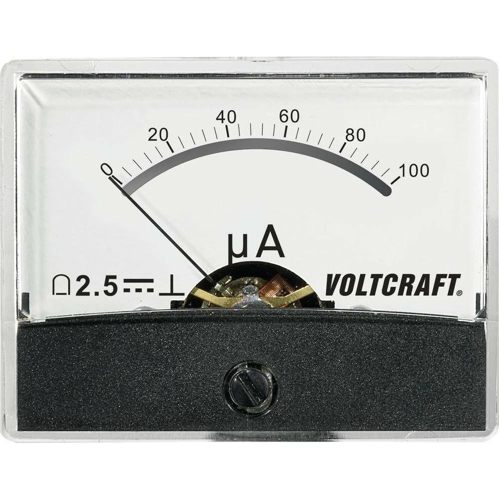 Analogové panelové měřidlo VOLTCRAFT AM-60X46/100µA/DC 100 µA CONRAD