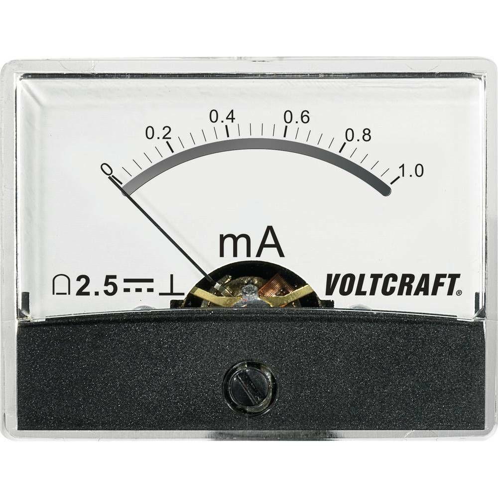 Analogové panelové měřidlo VOLTCRAFT AM-60X46/1MA/DC 1 mA CONRAD