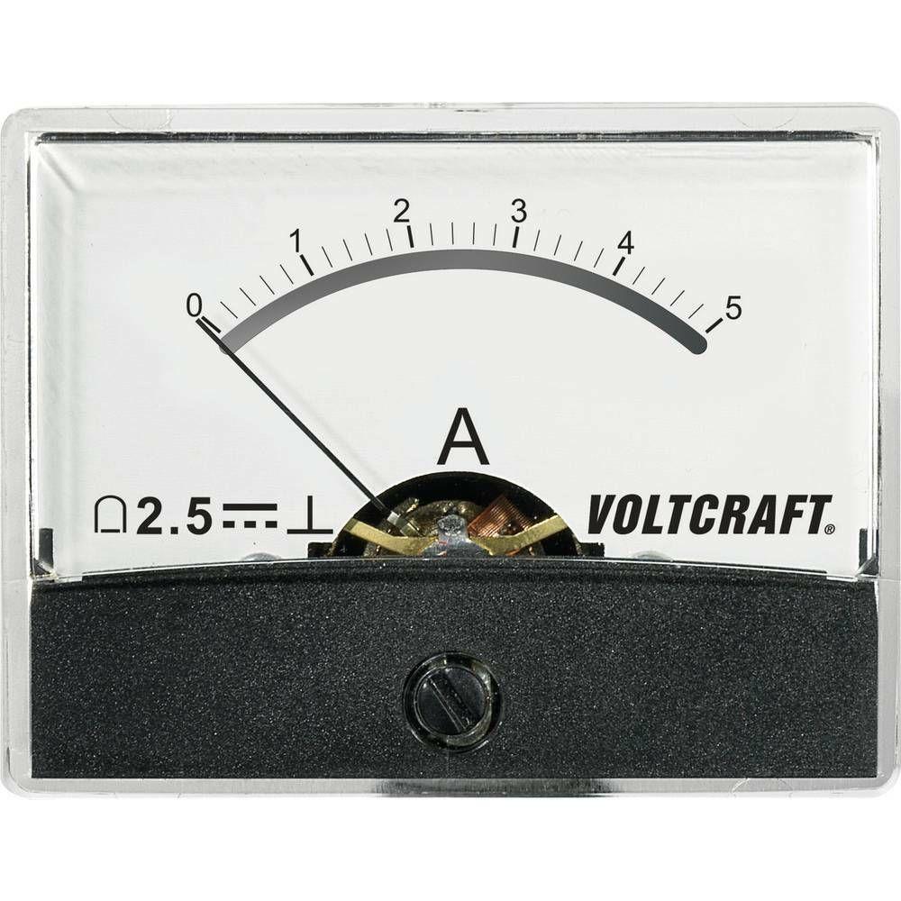 Analogové panelové měřidlo VOLTCRAFT AM-60X46/5A/DC 5 A CONRAD