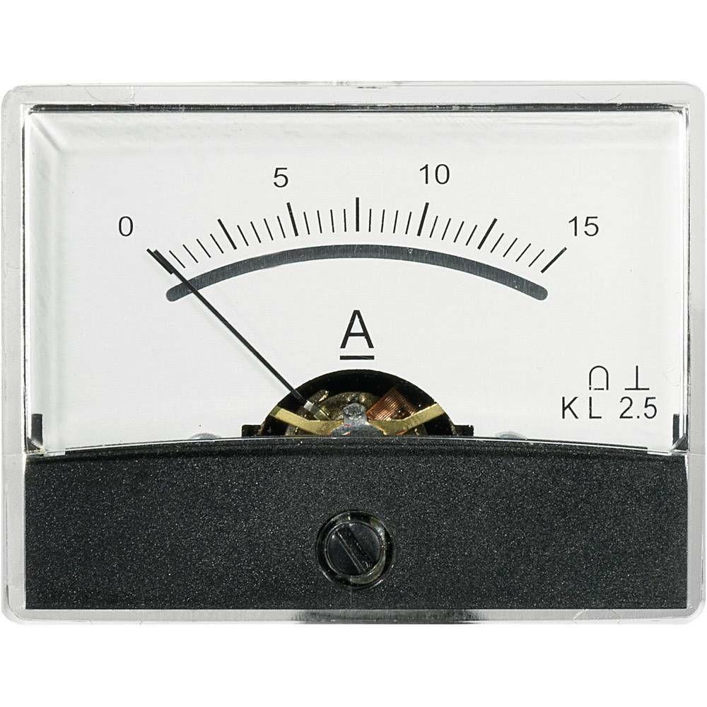 Analogové panelové měřidlo VOLTCRAFT AM-60X46/15A/DC 15 A CONRAD