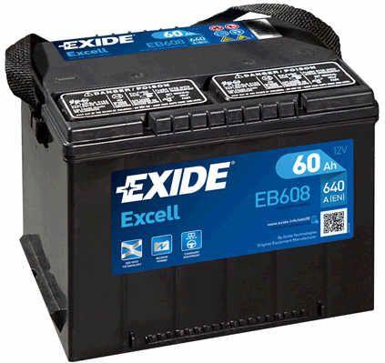 Baterie Exide 12V 60Ah EB608, EXIDE