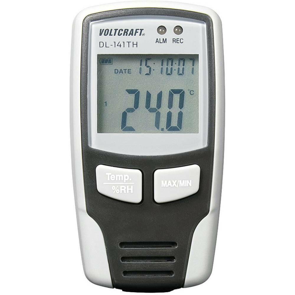Teplotní/vlhkostní datalogger DL-141TH, -40 až+70 °C VOLTCRAFT