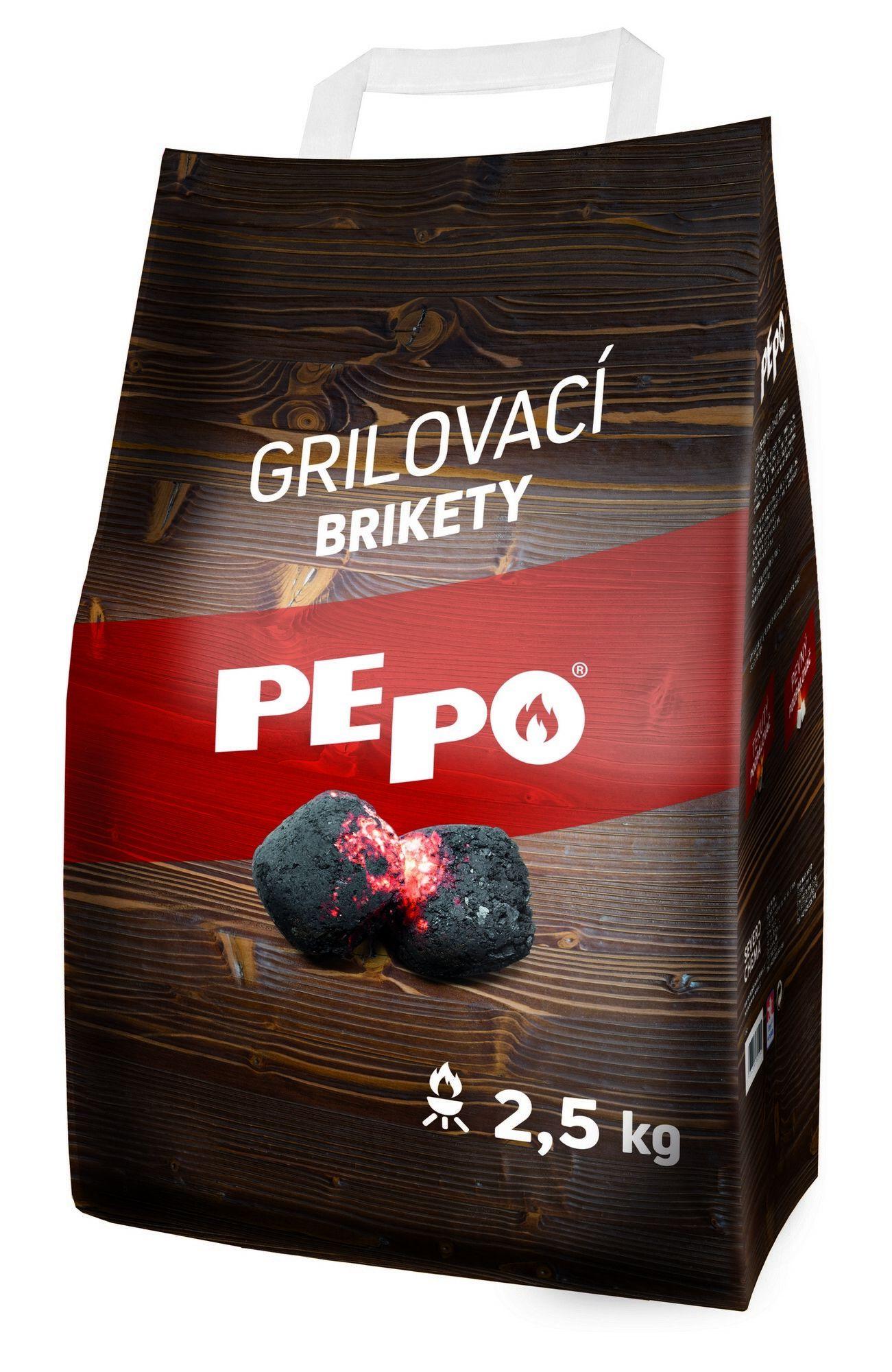 PE-PO grilovací brikety 2,5 kg PEPO