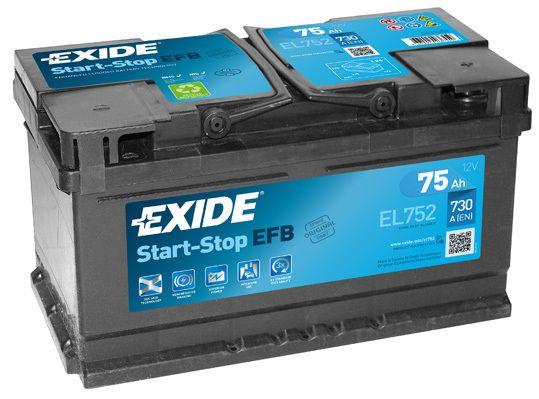 Baterie Exide 12V 75Ah EL752, EXIDE