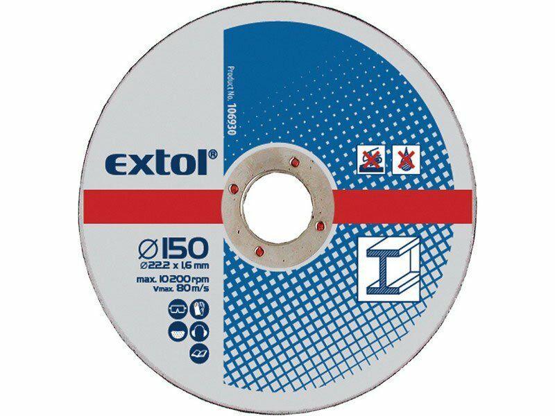 Kotouče řezné na kov, 5ks, 115x2,5x22,2mm, EXTOL CRAFT