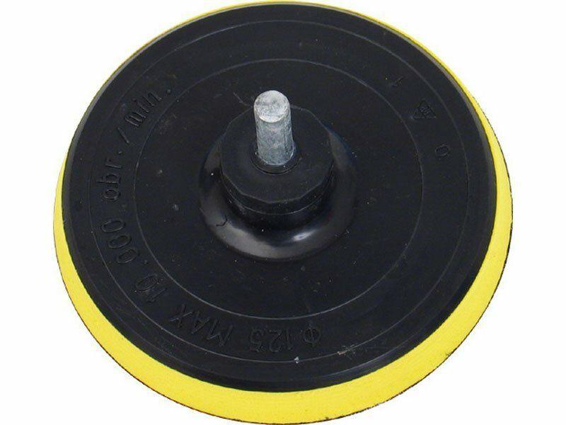 Nosič brusných výseků do vrtačky - suchý zip, Ř125mm, stopka 8mm, EXTOL CRAFT