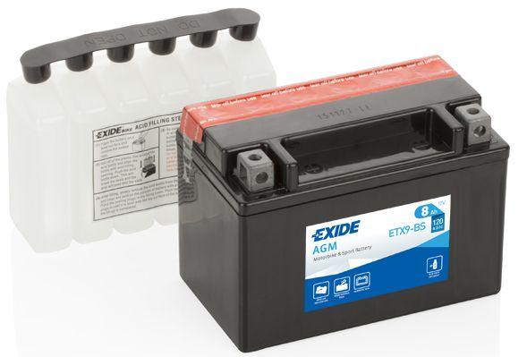 Baterie Exide 12V 8 Ah ETX9-BS, EXIDE