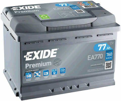 Baterie Exide 12V 77Ah EA770, EXIDE