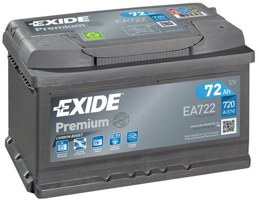 Baterie Exide 12V 72Ah EA722, EXIDE