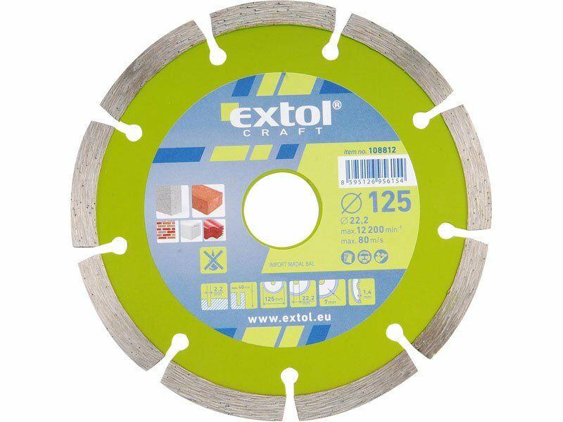 Kotouč diamantový řezný segmentový, 230x22,2mm, suché řezání, EXTOL CRAFT 108815