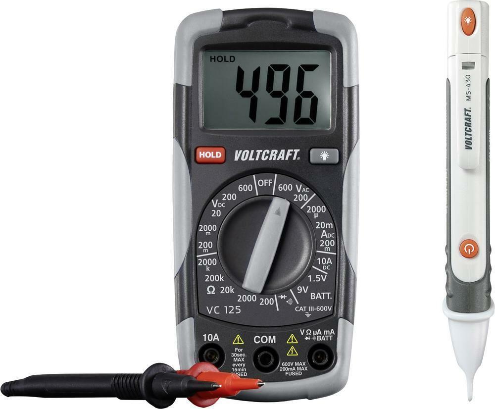 Digitální multimetr a zkoušečka Voltcraft DT-TEST-KIT 150, 3 roky záruka