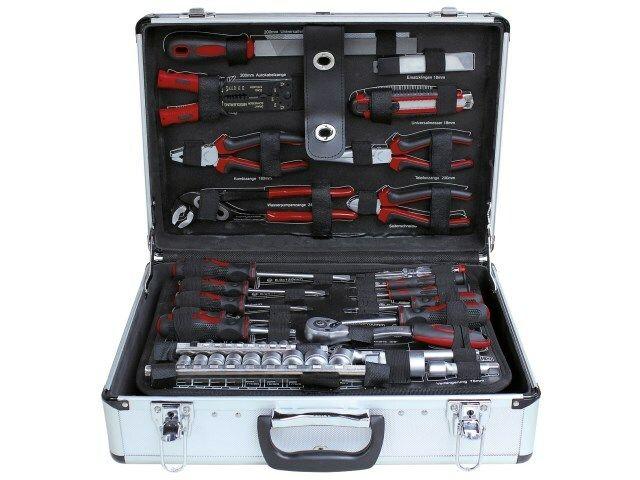 Profesionální hliníkový kufr s nářadím z chrom-vanadiové oceli 168 dílů ZUR SIXTOL
