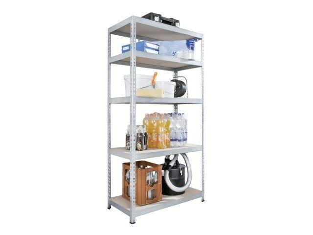 Regál/pracovní stůl 5 polic 180x90x45/90x180x45cm  / nosnost do 265kg/police SIXTOL