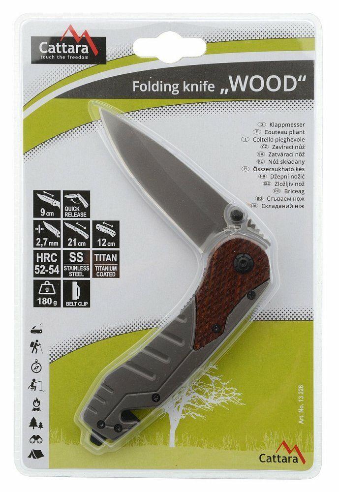Nůž skládací WOOD s pojistkou 21cm CATTARA
