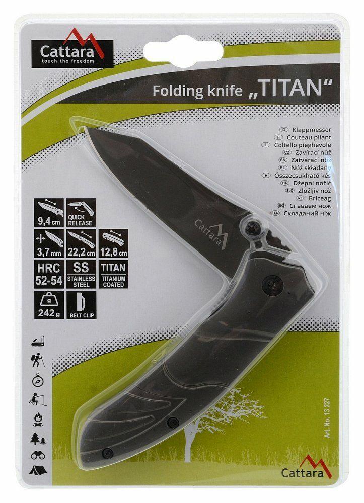 Nůž skládací TITAN s pojistkou 22cm CATTARA