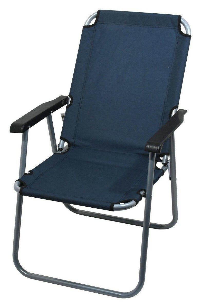 Židle kempingová skládací LYON tmavě modrá CATTARA