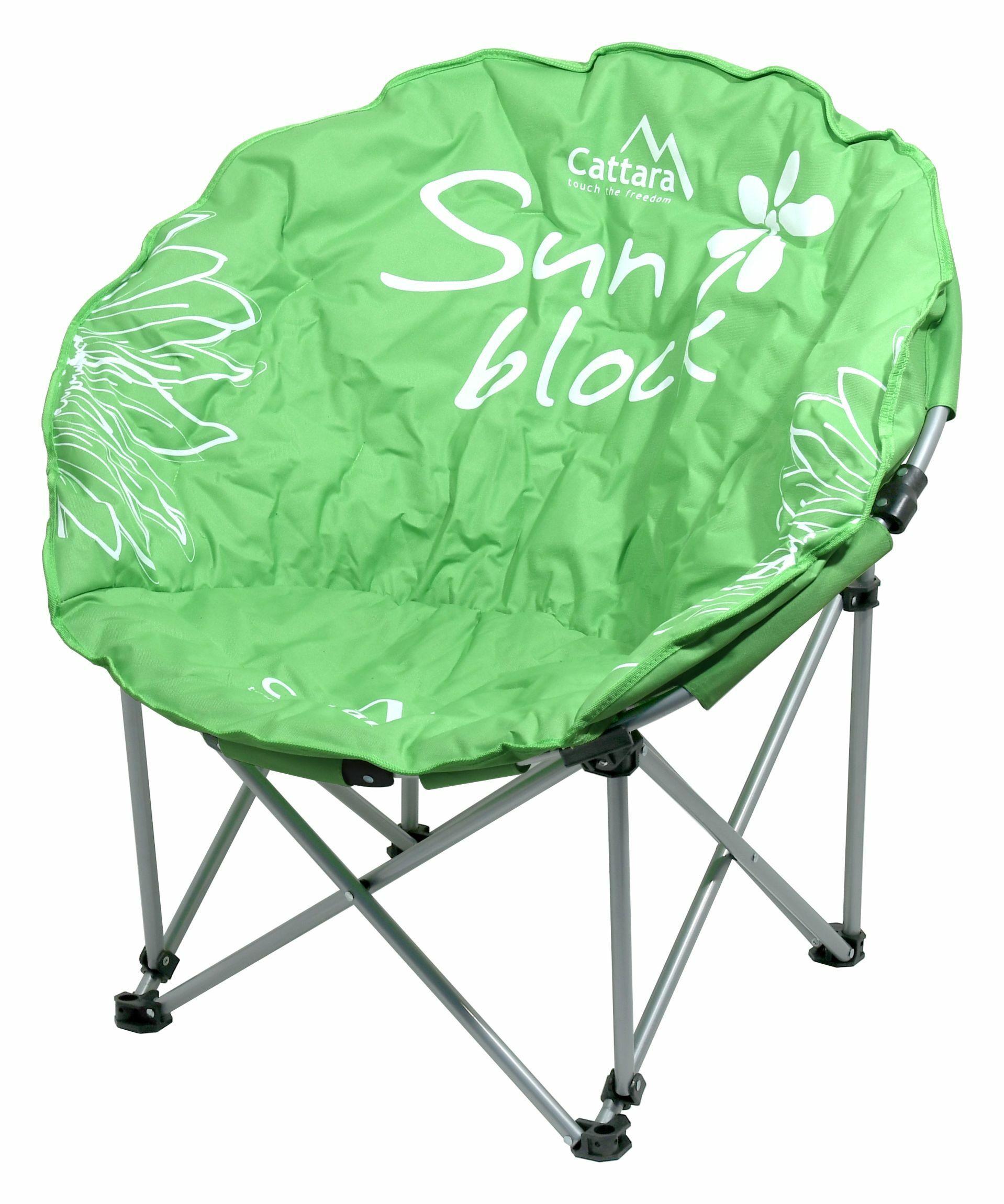 Židle kempingová skládací FLOWERS zelená CATTARA