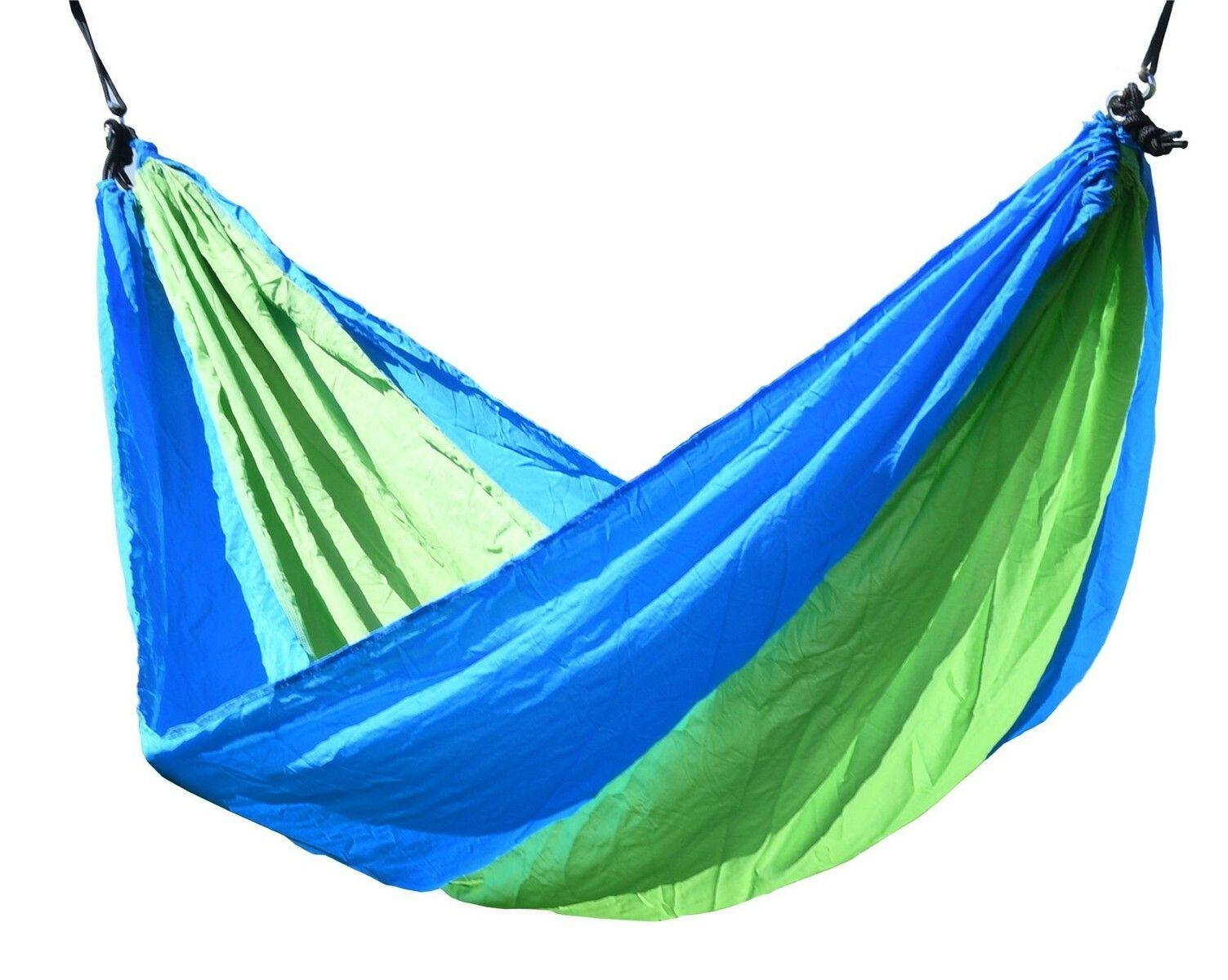 Houpací síť NYLON 275x137cm zeleno-modrá CATTARA
