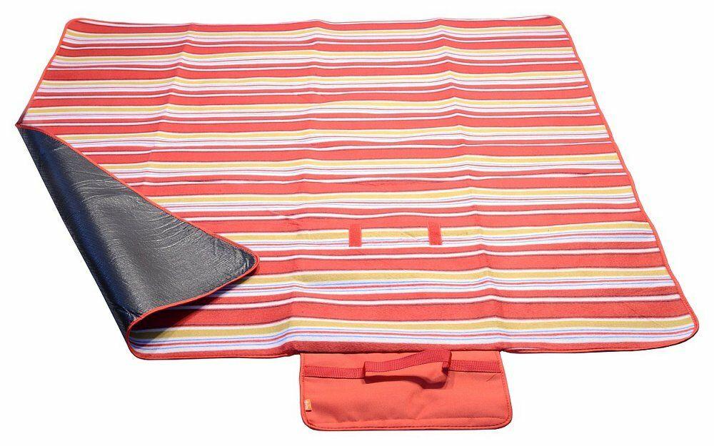 Pikniková deka FLEECE 150x135cm červená, CATTARA