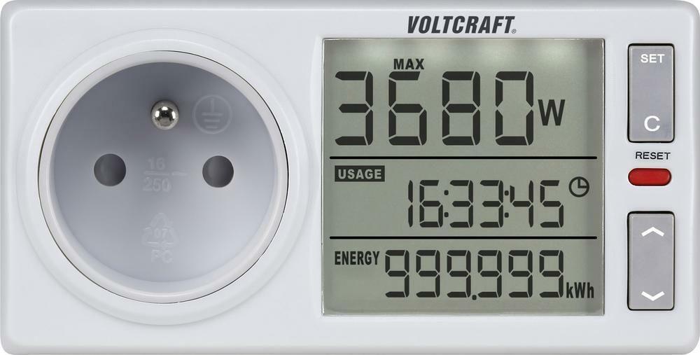 Zásuvkový měřič spotřeby el. energie VOLTCRAFT 4500ADVANCED FR, 3 roky záruka