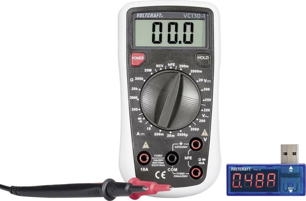 Digitální multimetr VC130 + USB Power meter PM-37, 3 roky záruka VOLTCRAFT