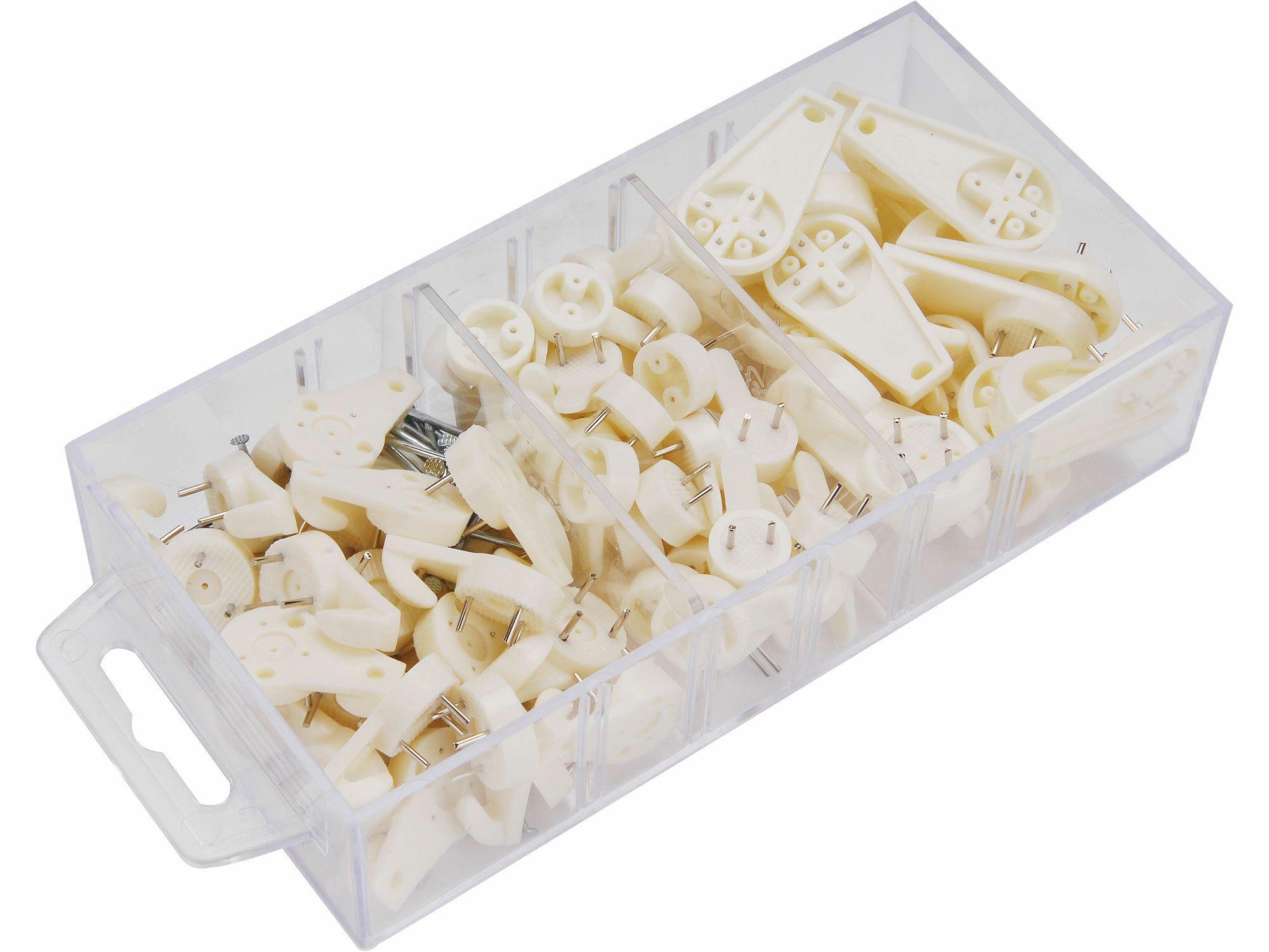 Háčky plastové univerzální 3 rozměry, sada 88ks, EXTOL CRAFT