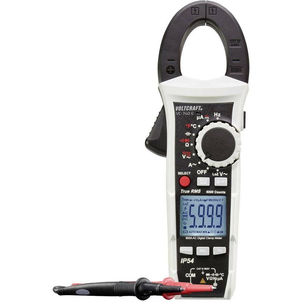 Digitální proudové kleště, multimetr VOLTCRAFT VC-740 E, ochrana proti stříkají