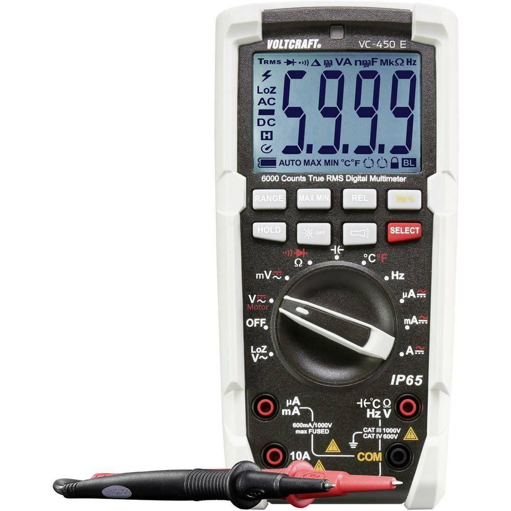 Digitální multimetr VOLTCRAFT VC-450 E ochrana proti tryskající vodě (IP65)