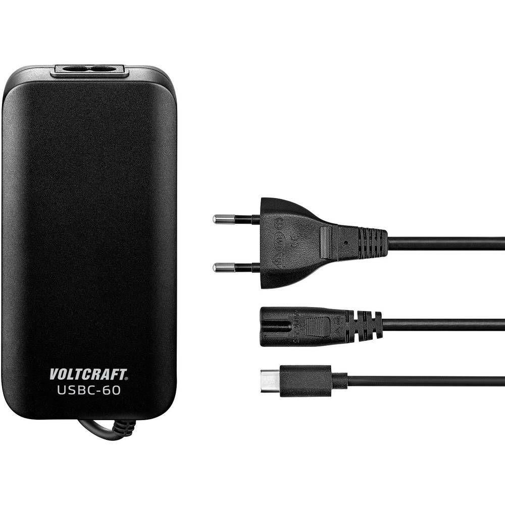 Napájecí adaptér k notebooku VOLTCRAFT USBC-60, 3 A, 1 x , černá CONRAD