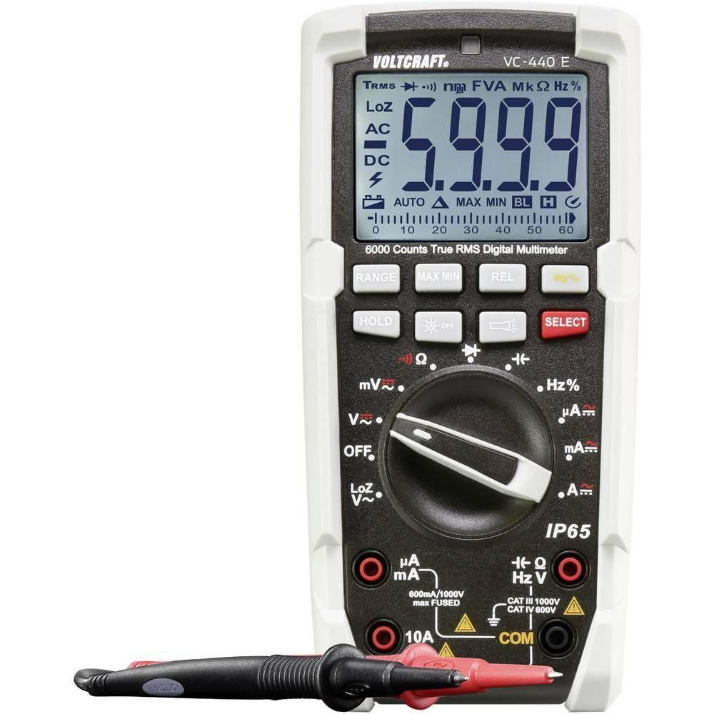 Digitální multimetr VOLTCRAFT VC-440 E 1590174, Kalibrováno dle ISO, ochrana pr