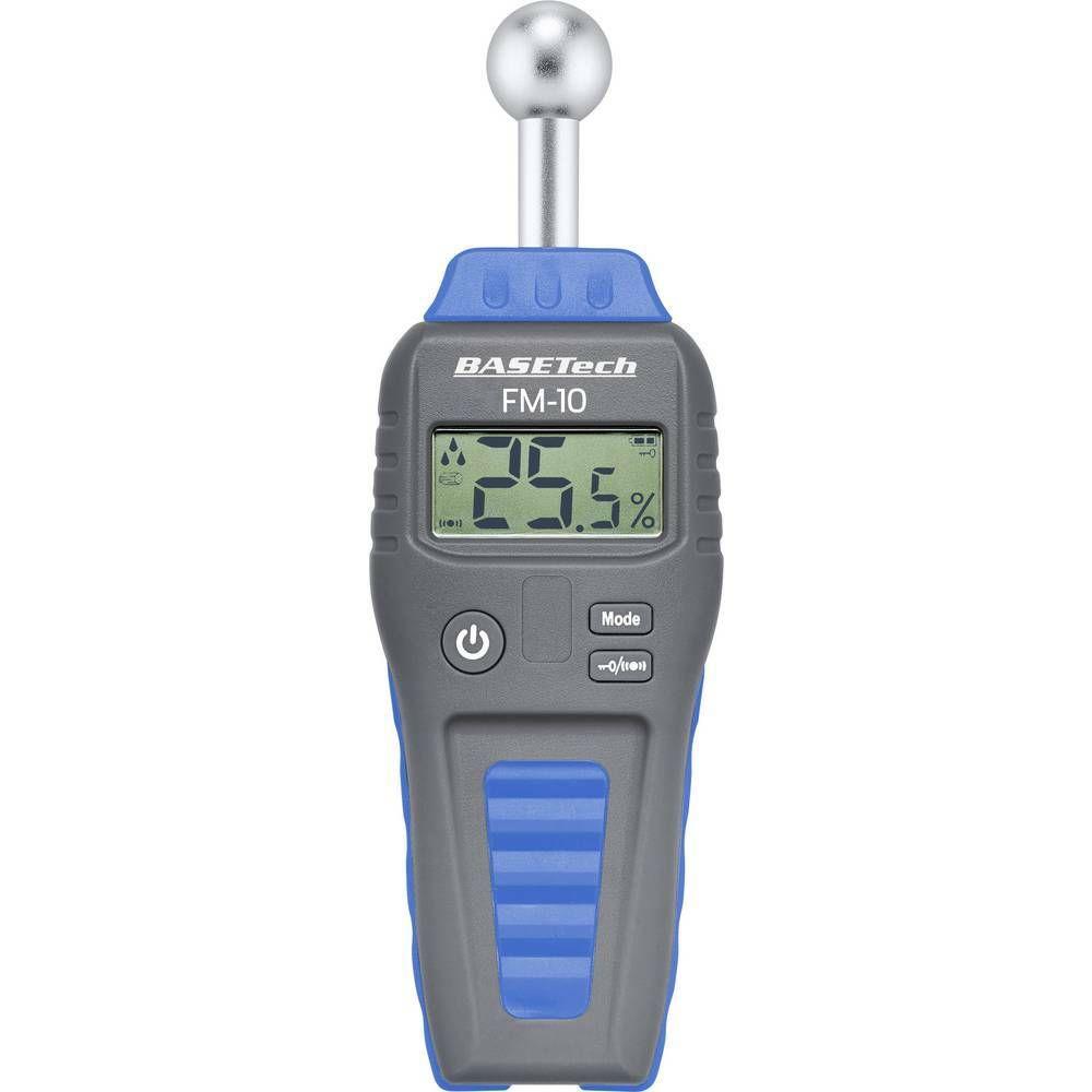 Měřič vlhkosti materiálů Basetech FM-10, Měření vlhkosti dřeva 0.1 do 99.9 % vol 0.1 do 99