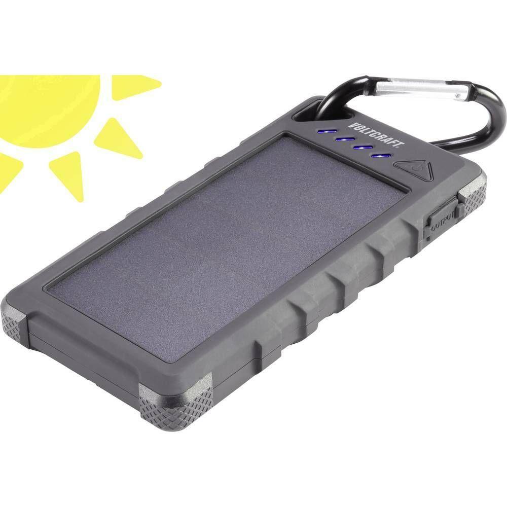 Solární powerbanka VOLTCRAFT SL-160, Li-Pol 16000 mAh, černá CONRAD