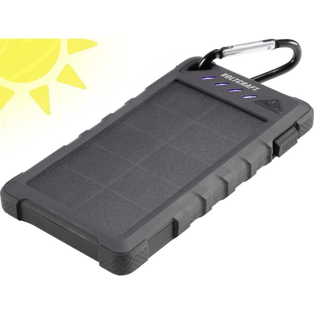 Solární powerbanka VOLTCRAFT SL-80, Li-Pol 8000 mAh, černá CONRAD