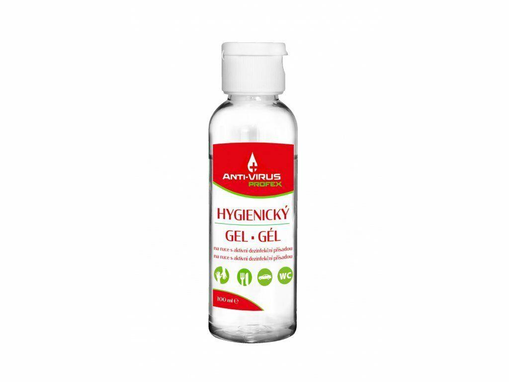 PROFEX Anti-VIRUS Hygienický gel na ruce 100 ml, vůně Aloe Vera SHERON