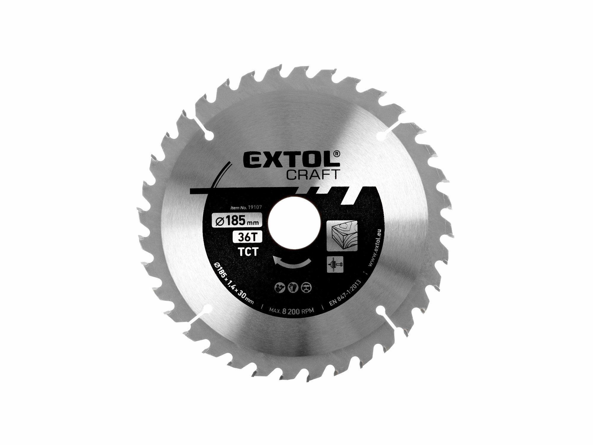 Kotouč pilový s SK plátky, 160x1,4x20mm, 36T, šířka SK plátku 2,7mm EXTOL-CRAFT