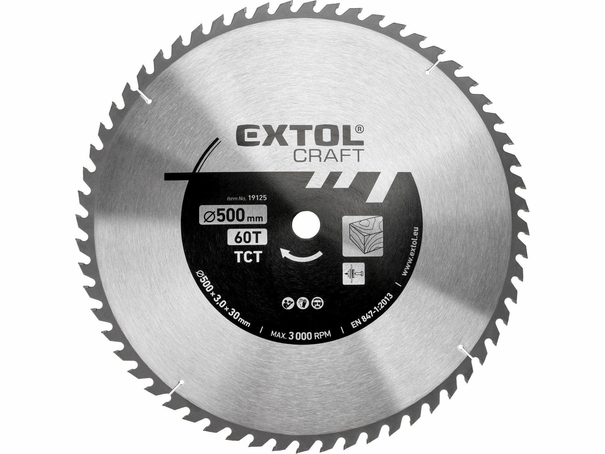 Kotouč pilový s SK plátky. 500x3.0x30mm. 60T. šířka SK plátku 3.8mm EXTOL-CRAFT