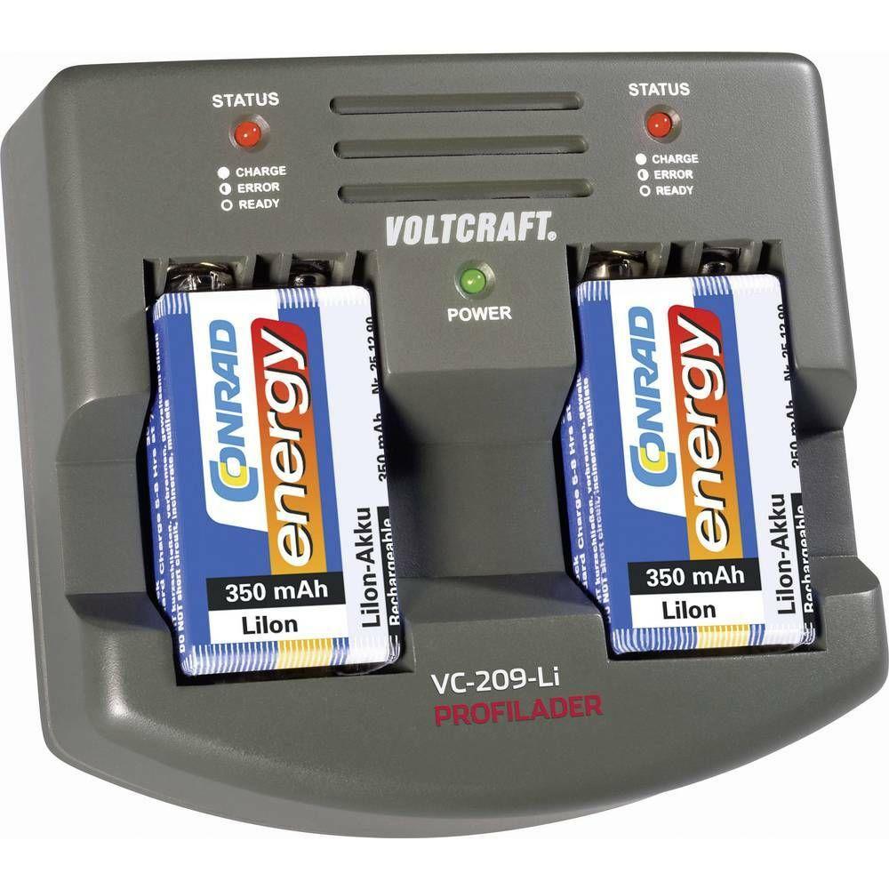 Profesionální nabíječka 9V Li-Ion akumulátorů VC-209-Li VOLTCRAFT